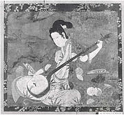 Beauty Playing a Shamisen
