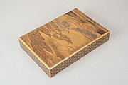 Document Box (Bunko) with Design of Cherry Trees in Bloom in Yoshino