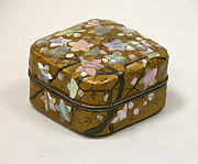 Incense Box with Flowering Plum Tree