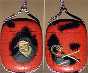 Case (Inrō) with Design of Daruma (obverse); Fly Whisk and Scepter (reverse)