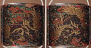 Case (Inrō) with Design of Baku (Mythical Animals) among Ruyi-Shaped Clouds