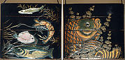 Case (Inrō) with Design of Fish among Seaweeds