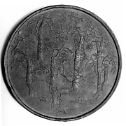 Ink Tablet Decorated with Five Pines