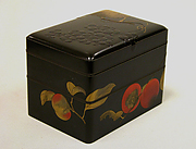 Two-Tiered Box with Design of Autumn Fruits