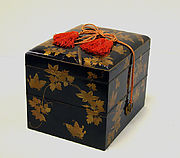 Box and utensils for incense ceremony set