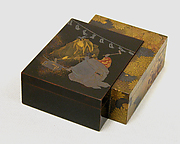 Incense Box with Scene from Noh Play Kokaji