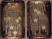 Case (Inrō) with Design of Weeping Willow and Cherry Blossoms