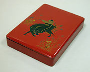 Writing Box with Design of Ox-Herding Boy Playing Flute