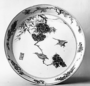 Plate with Bamboo, Peonies, and Birds