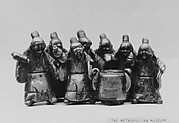 Group of Sennin Standing Around a Camp Kettle