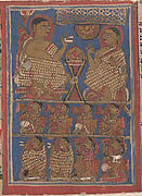 Mahavira Preaching the Samacari (top) / Part of Mahavira&#39;s Audience as He Preached the Samacari (bottom); Page from a Dispersed Kalpa Sutra (Jain Book of Rituals)