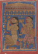 King Siddharta Bathing: Folio from a Kalpasutra Manuscript