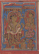 King Siddharta Being Anointed: Folio from a Kalpasutra Manuscript