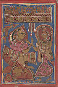 Queen Trisala's Grief (at the Stillness of the Unborn): Folio from a Kalpasutra Manuscript