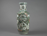 Vase with Floral and Landscape Decor