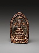 Votive Plaque (Tsa Tsa) Depicting a Stupa