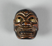 Netsuke of Noh Mask: Kimbo Tobide