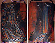 Case (Inrō) with Design of Waterfalls