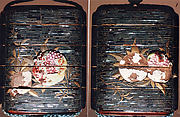 Case (Inrō) with Design of  Pomegranate Branches and Fruits