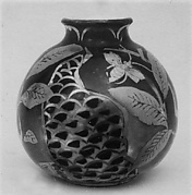 Ceramic Jar with Ivory Lid