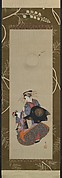Beauty of the Yoshiwara with Apprentice in Moonlight