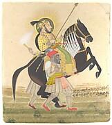 Maharana Sangram Singh Riding a Prize Stallion