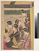 A Party of Geisha in a Suzumi-bune, i.e.