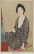 Kakatani Tsuru Seated Before the Dressing Stand