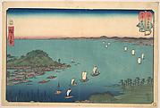 The Harbor of Ajikawa, Settsu Province