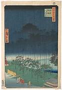 Paulownia Trees at Akasaka in the Evening Rain