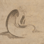 Monk Reading a Sutra by Moonlight