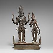 Standing Shiva and Parvati