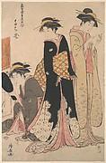 Three Geishas of Tachibana Street in Their Room