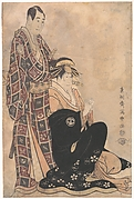 Sagawa Kikunojo III as the Courtesan Katsuragi,and Sawamura Sojuro