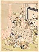 Young Boys Performing a Puppet Show