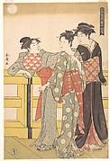 Three Women on a Bridge