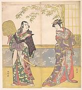 Sawamura Sojiro II and Sanogawa Ichimatsu in the IX Act of the Drama