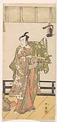 Arashi Sangoro as a Samurai Standing on the Veranda of a Great House
