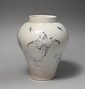 Jar with decoration of flowers and insects