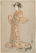 Portrait of the Actor Nakamura Yasio as an Oiran Standing, Facing to the Left