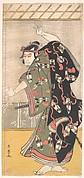 The Third Otani Oniji as a Samurai Standing in a Room