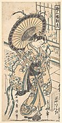 Young Lady with Parasol in the Yoshiwara District