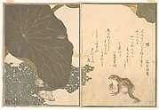 Gold Beetle and Frogs (Koganemushi and Kaeru), from Picture Book of Selected Insects with Crazy Poems (Ehon Mushi Erabi)