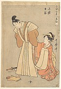 Rikiya and Konami, from the series  A Program with Music about Loving Couples (Ongyoku hiyoku no bangumi)