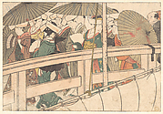 Women on a Bridge, from the illustrated book Flowers of the Four Seasons