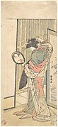 A Courtesan Looking at Her Reflection in a Hand Mirror