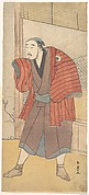Onoe Matsusuke as a Servant Standing Beside a House