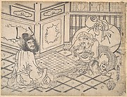 Daikoku and Shoki Playing Chess