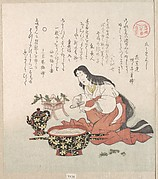 Woman Cutting Her Nails after GatHering Herbs