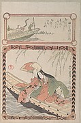 Courtesan in Ancient Costume Seated in a Boat